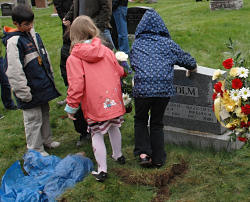 Little girls danced on his grave.