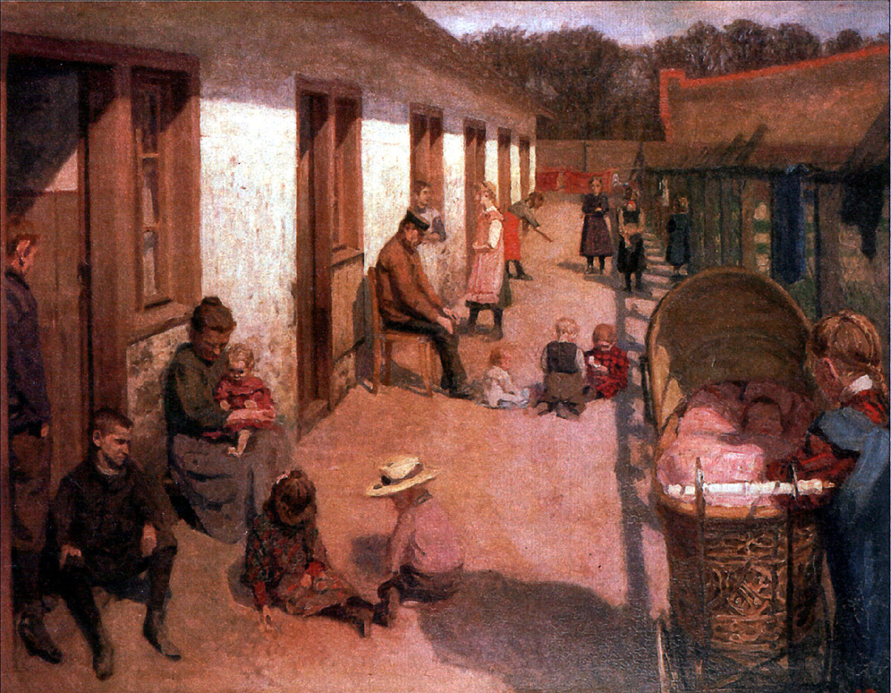 Residents of the poorhouse, Charlottenburg, by Jens Birkholm.