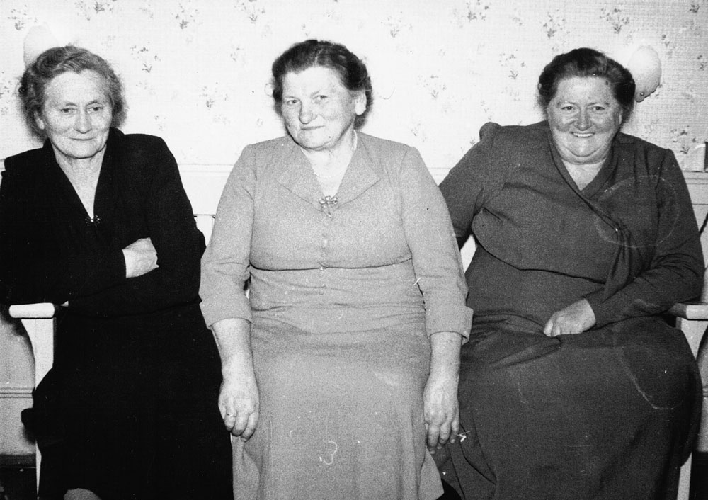 Dad's three sisters, Anine, Hansine and Sophie