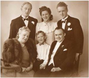 Peter and Anna Birkholm with their sons and daughter-in-law