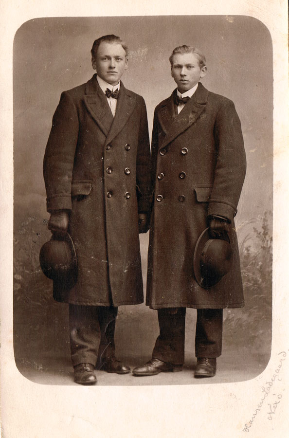 My father, Viggo, and his older, but shorter, brother Johannes. Johannes resembled their father. Viggo and Ludvig looked more like the Larsens in height, build and facial features. Alfred was in between.