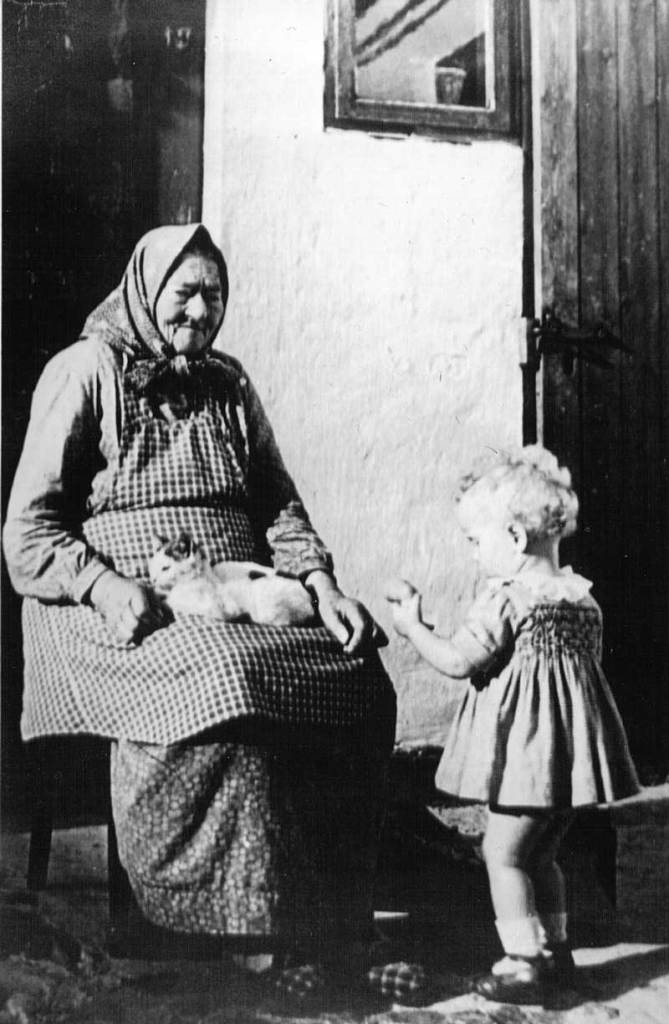 Grandmother with small child